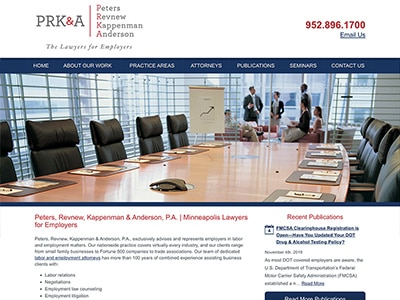 Law Firm Website design for Peters, Revnew, Kappenman…