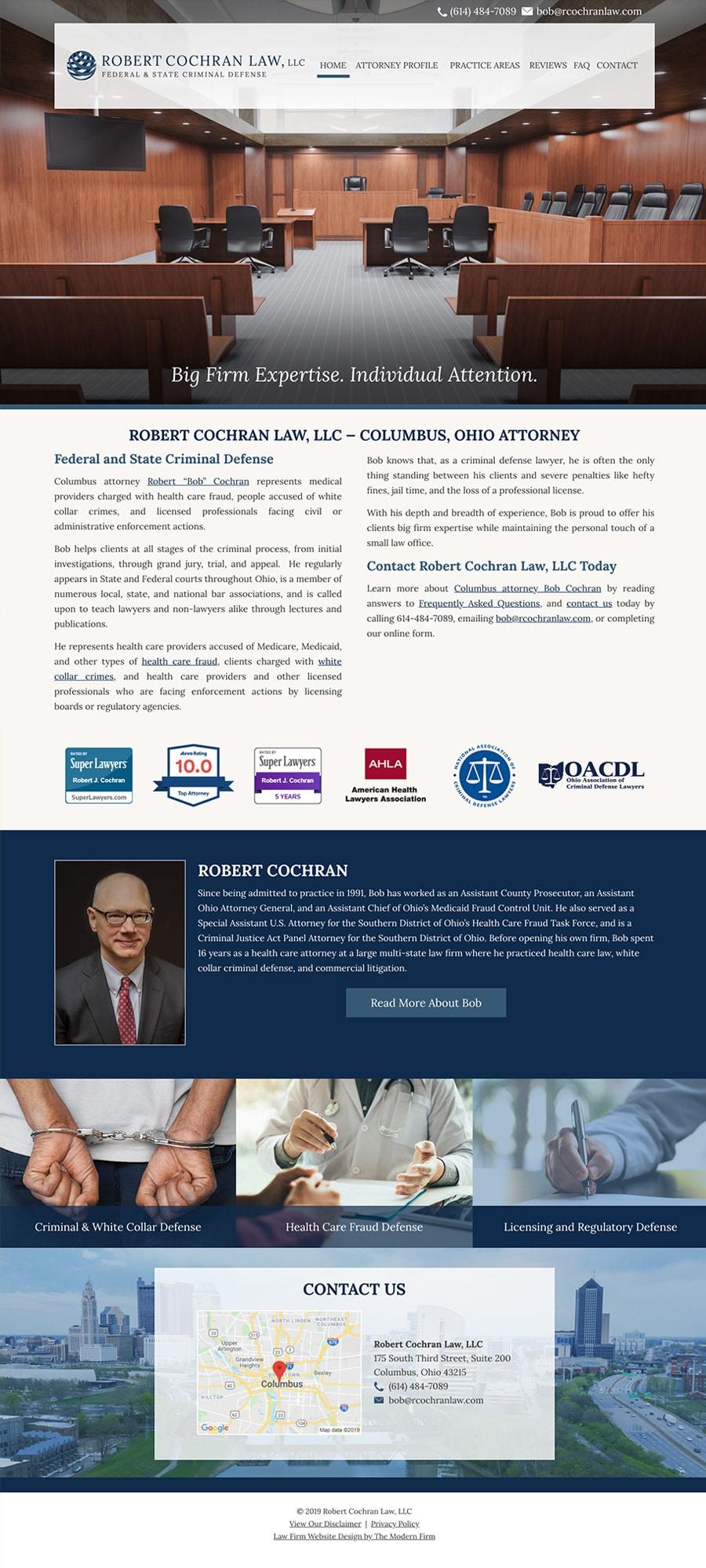 Law Firm Website Design for Robert Cochran Law, LLC