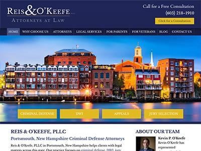 Law Firm Website design for Reis & O'Keefe