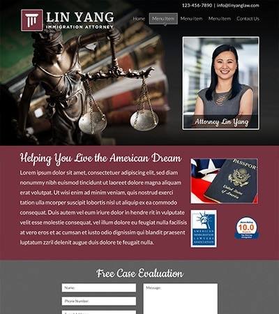 Law firm wbsite design concept Layout #118
