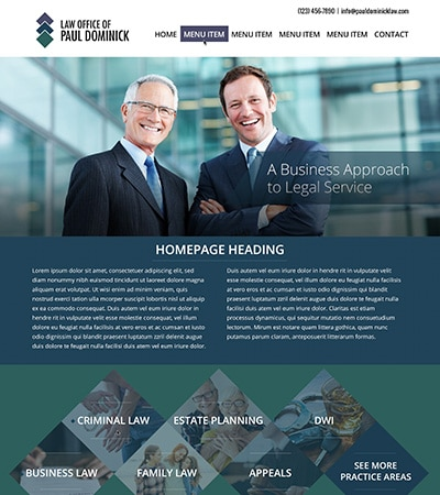 Law firm wbsite design concept Layout #119