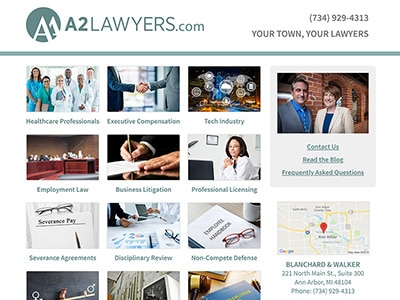 Law Firm Website design for Blanchard & Walker