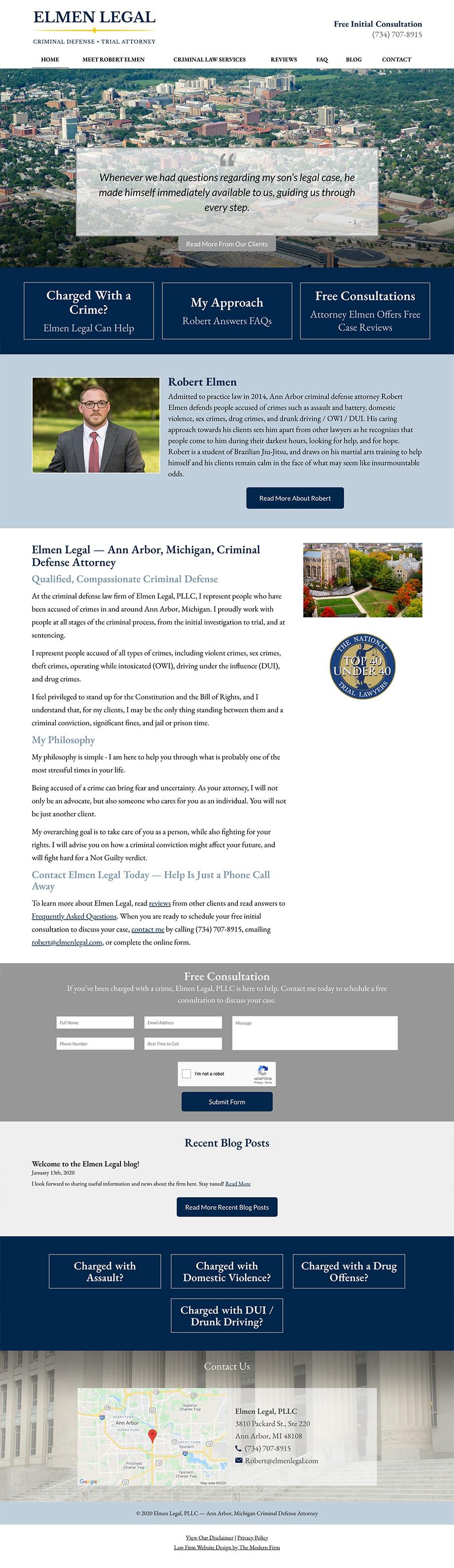 Law Firm Website Design for Elmen Legal, PLLC