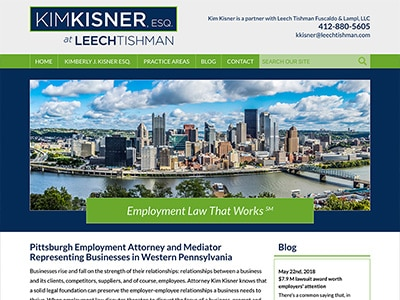 Law Firm Website design for Kim Kisner ESQ. at Leech…
