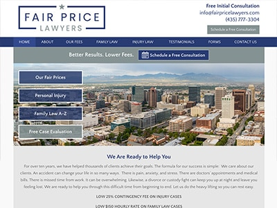 Law Firm Website design for Fair Price Lawyers