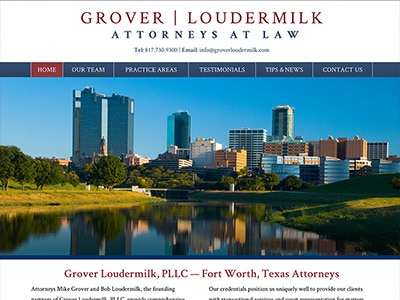 Law Firm Website design for Grover Loudermilk, P.L.L.…