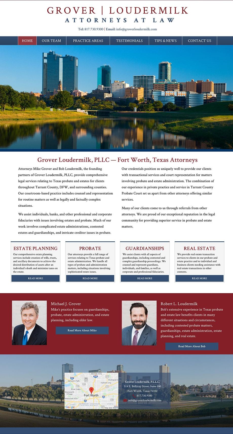 Law Firm Website Design for Grover Loudermilk, P.L.L.C.
