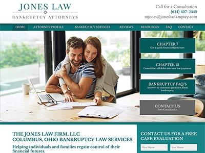 Law Firm Website design for The Jones Law Firm, LLC