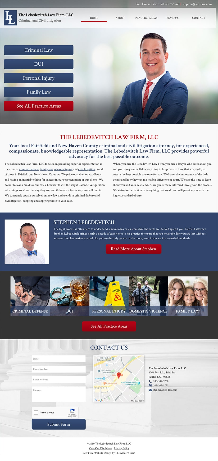 Law Firm Website Design for The Lebedevitch Law Firm, LLC