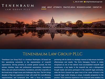 Law Firm Website design for Tenenbaum Law Group PLLC