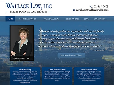 Law Firm Website design for Wallace Law, LLC