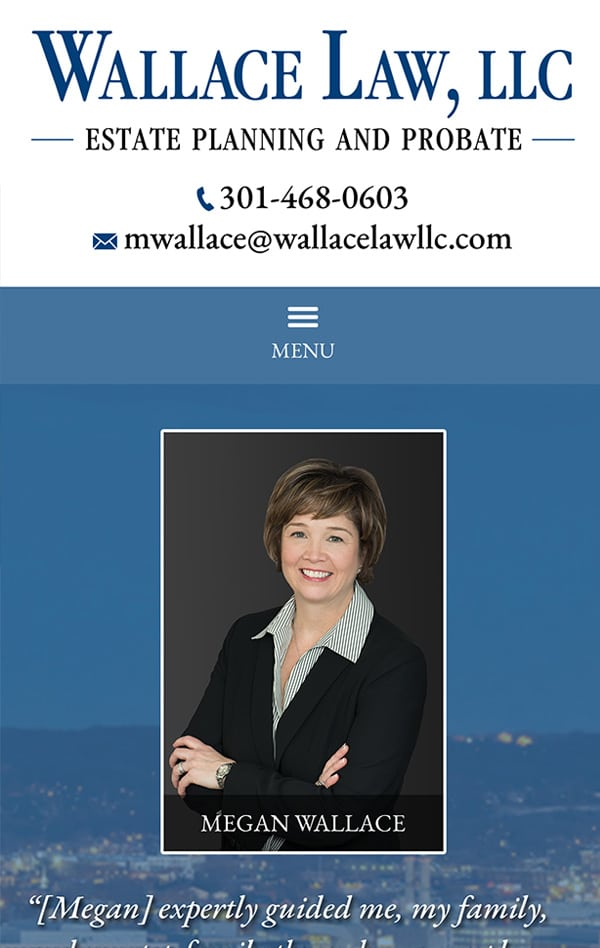 Mobile Friendly Law Firm Webiste for Wallace Law, LLC