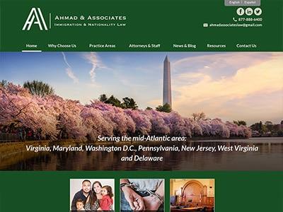 Law Firm Website design for Ahmad & Associates