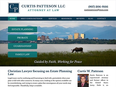 Law Firm Website design for Law Office of Curtis W. P…