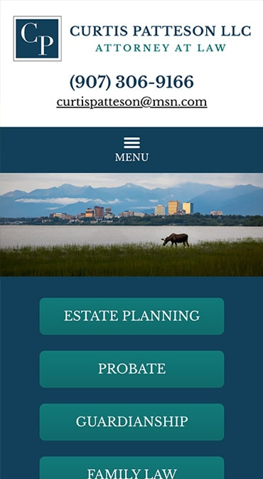 Responsive Mobile Attorney Website for Law Office of Curtis W. Patteson, LLC