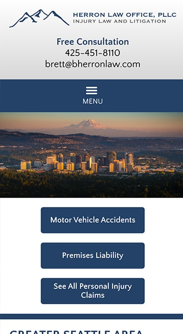 Responsive Mobile Attorney Website for Herron Law Office, PLLC