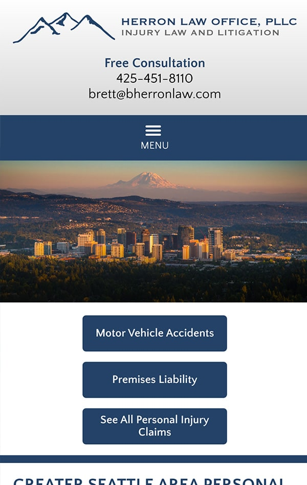 Mobile Friendly Law Firm Webiste for Herron Law Office, PLLC