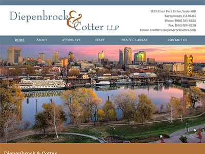 Law Firm Website design for Diepenbrock & Cotter LLP