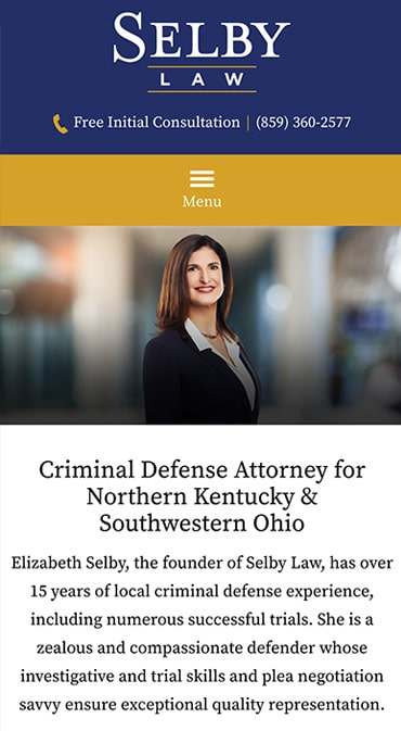 Responsive Mobile Attorney Website for The Law Office of Elizabeth Selby, PLLC