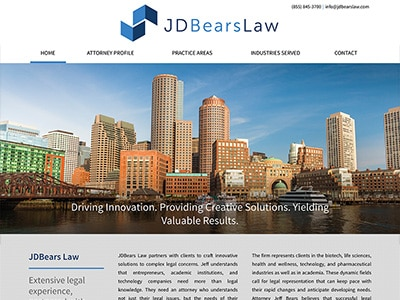 Law Firm Website design for JDBears Law, LLC