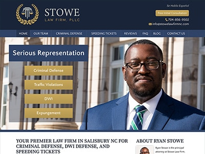 Website Design for Stowe Law Firm, PLLC