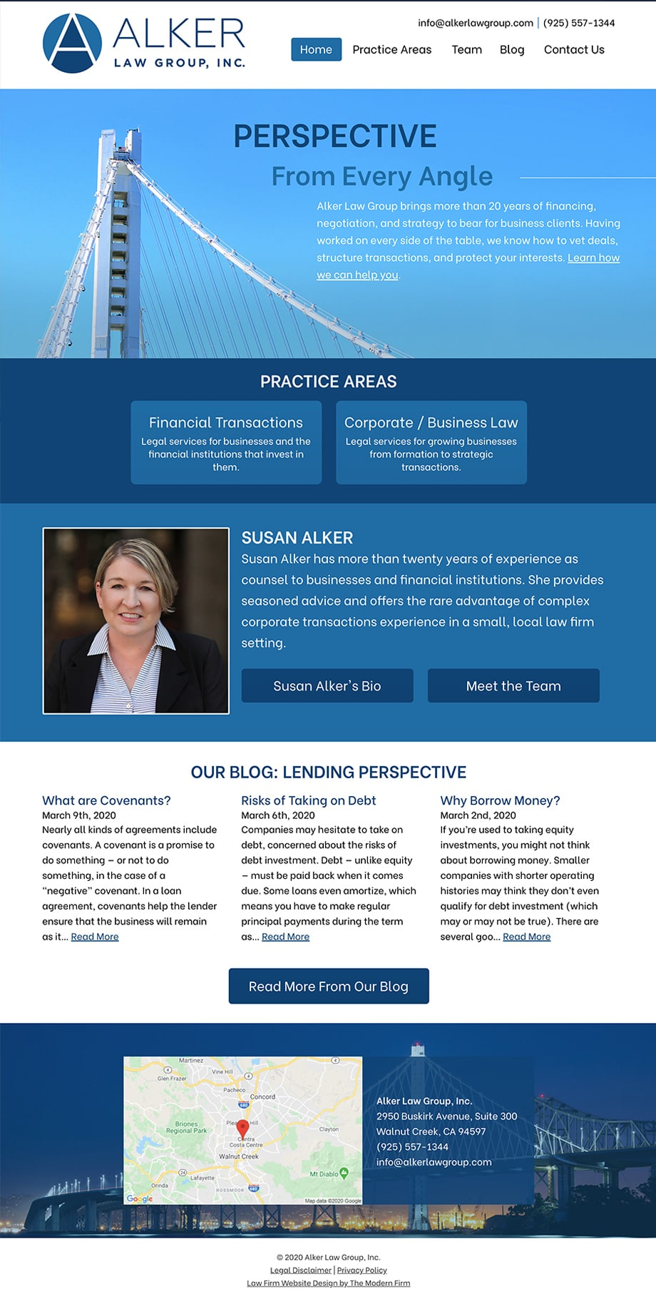 Law Firm Website for Alker Law Group, Inc.