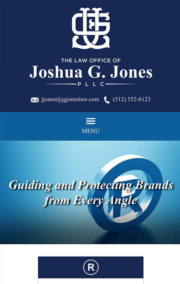 Mobile Friendly Law Firm Webiste for The Law Office of Joshua G. Jones PLLC
