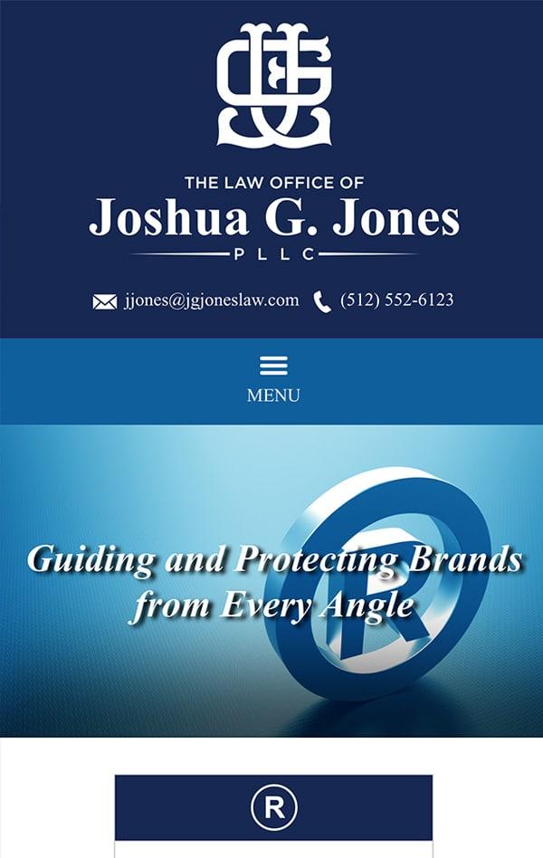 Mobile Friendly Law Firm Webiste for The Law Office of Joshua G. Jones PLLC