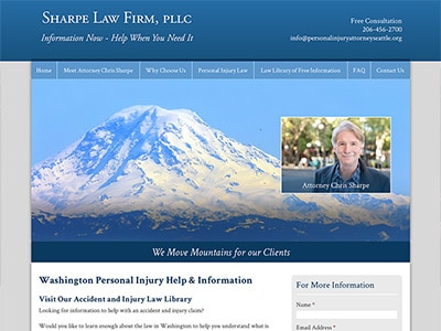 Law Firm Website design for Sharpe Law Firm, PLLC