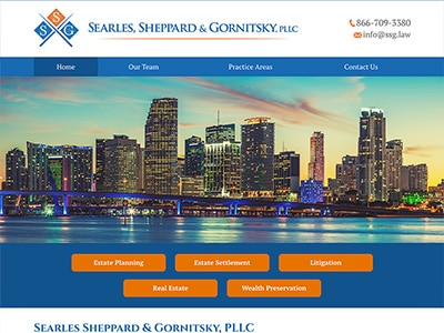 Law Firm Website design for Searles Sheppard & Gornit…