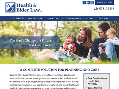Law Firm Website design for A/Z Health & Elder Law LL…