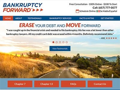 Law Firm Website design for Bankruptcy Forward