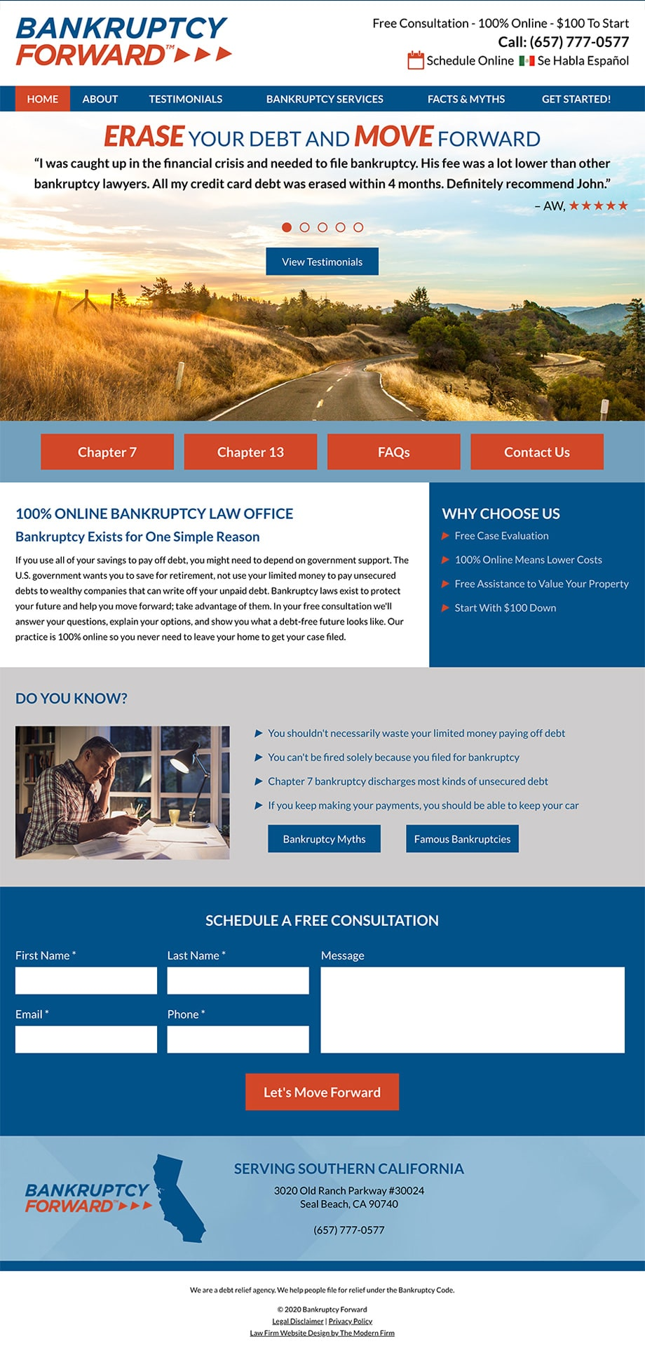 Law Firm Website Design for Bankruptcy Forward