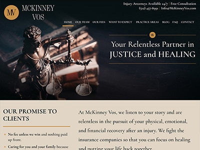 Website Design for McKinney Vos PLLC