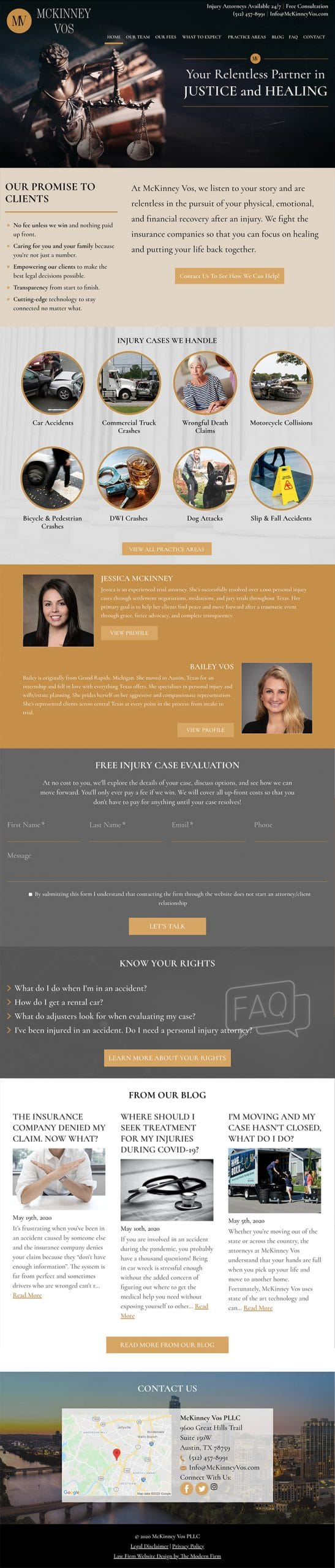 Law Firm Website Design for McKinney Vos PLLC