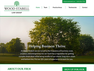 Law Firm Website design for Wood Stabell Law Group, P…