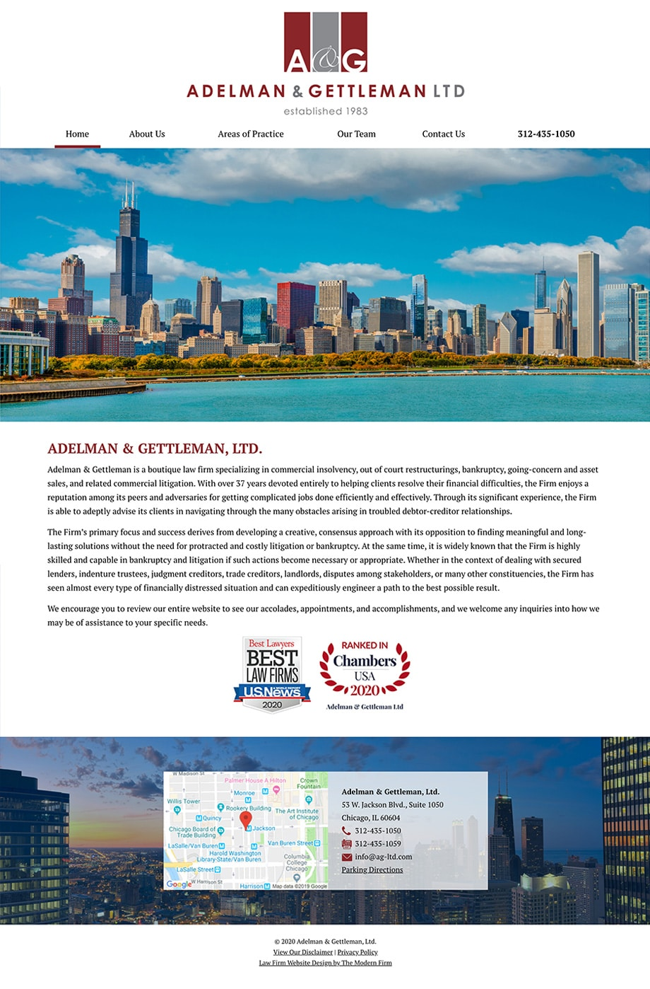 Law Firm Website Design for Adelman & Gettleman, Ltd.
