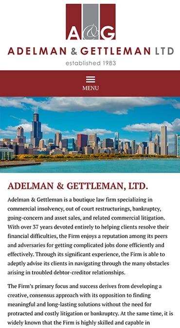 Responsive Mobile Attorney Website for Adelman & Gettleman, Ltd.