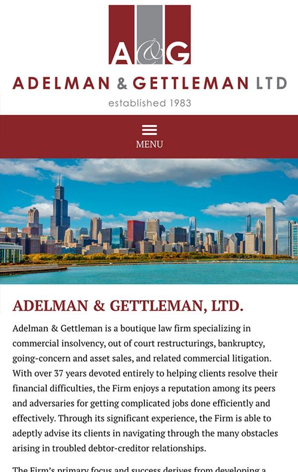 Mobile Friendly Law Firm Webiste for Adelman & Gettleman, Ltd.