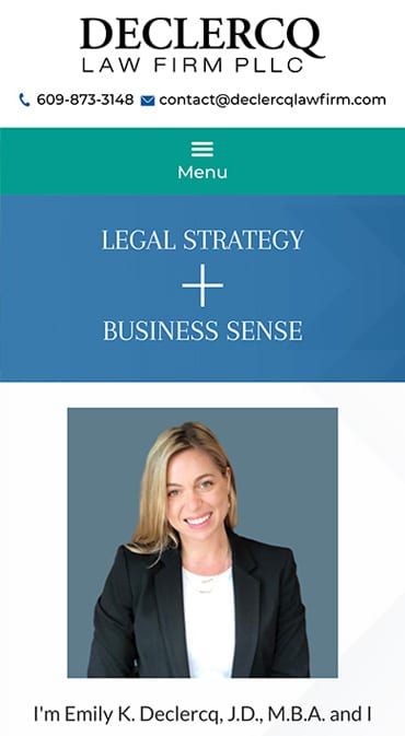 Responsive Mobile Attorney Website for Declercq Law Firm, PLLC