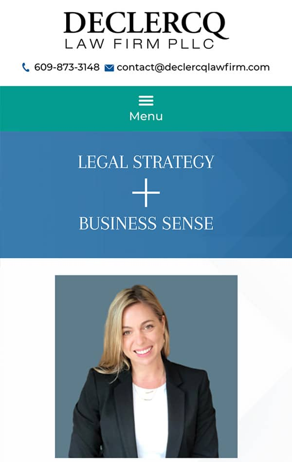 Mobile Friendly Law Firm Webiste for Declercq Law Firm, PLLC