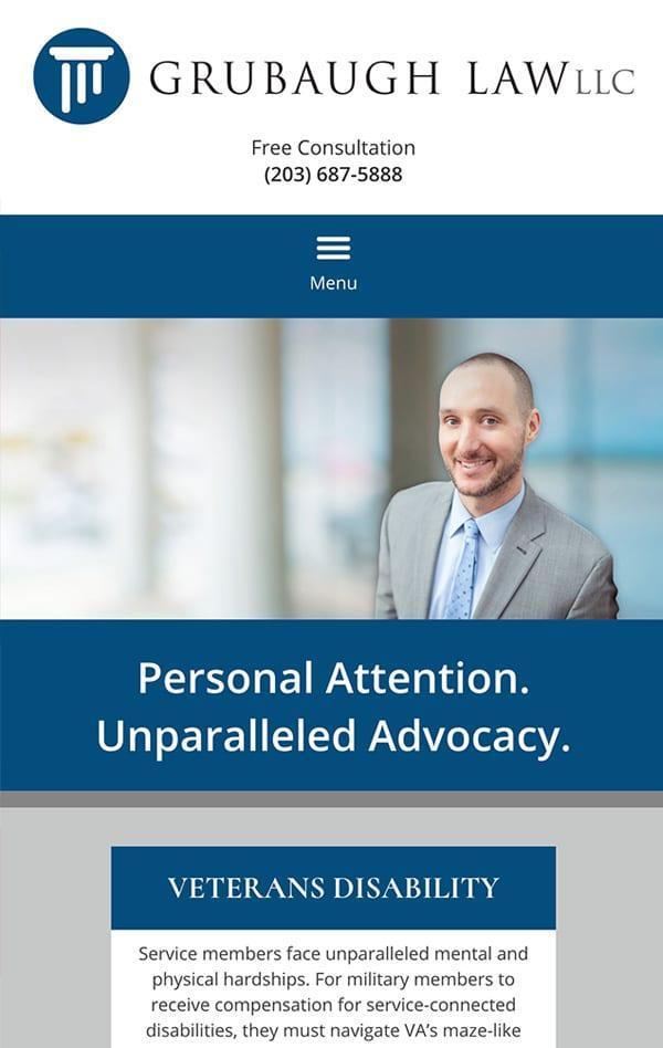 Mobile Friendly Law Firm Webiste for Grubaugh Law, LLC