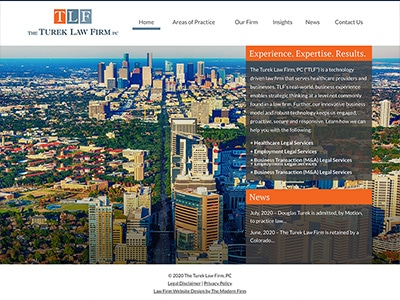 Law Firm Website design for The Turek Law Firm, PC