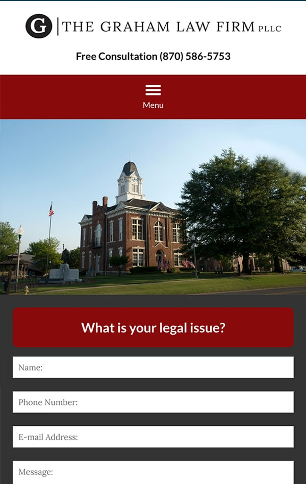 Mobile Friendly Law Firm Webiste for The Graham Law Firm PLLC