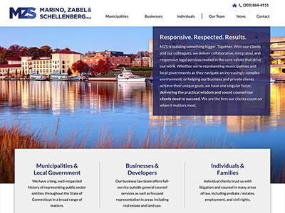 Law Firm Website design for Marino, Zabel & Schellenb…