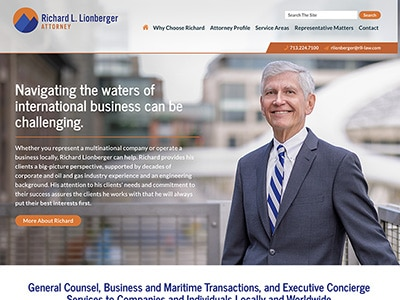 Website Design for Richard Lionberger, Attor…