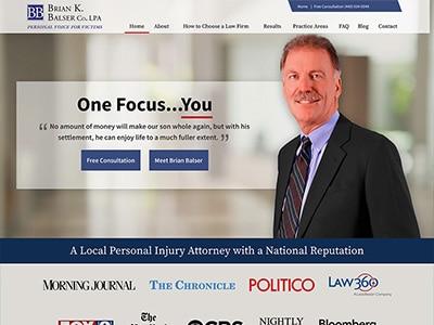 Law Firm Website design for Brian K. Balser Co. LPA