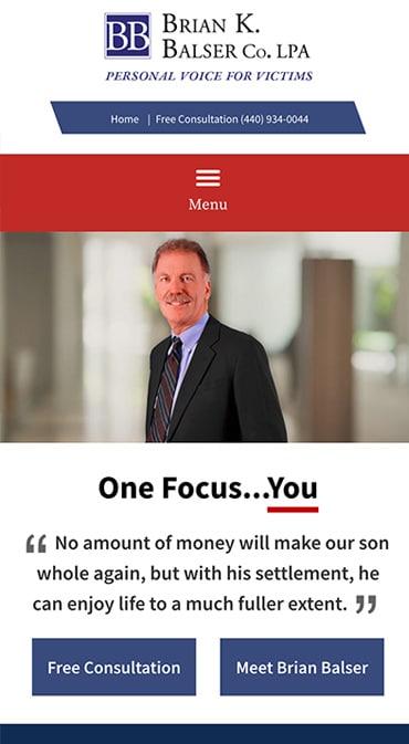Responsive Mobile Attorney Website for Brian K. Balser Co. LPA