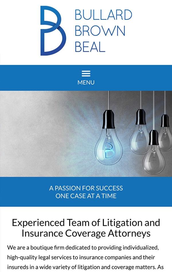 Mobile Friendly Law Firm Webiste for Bullard Brown Beal
