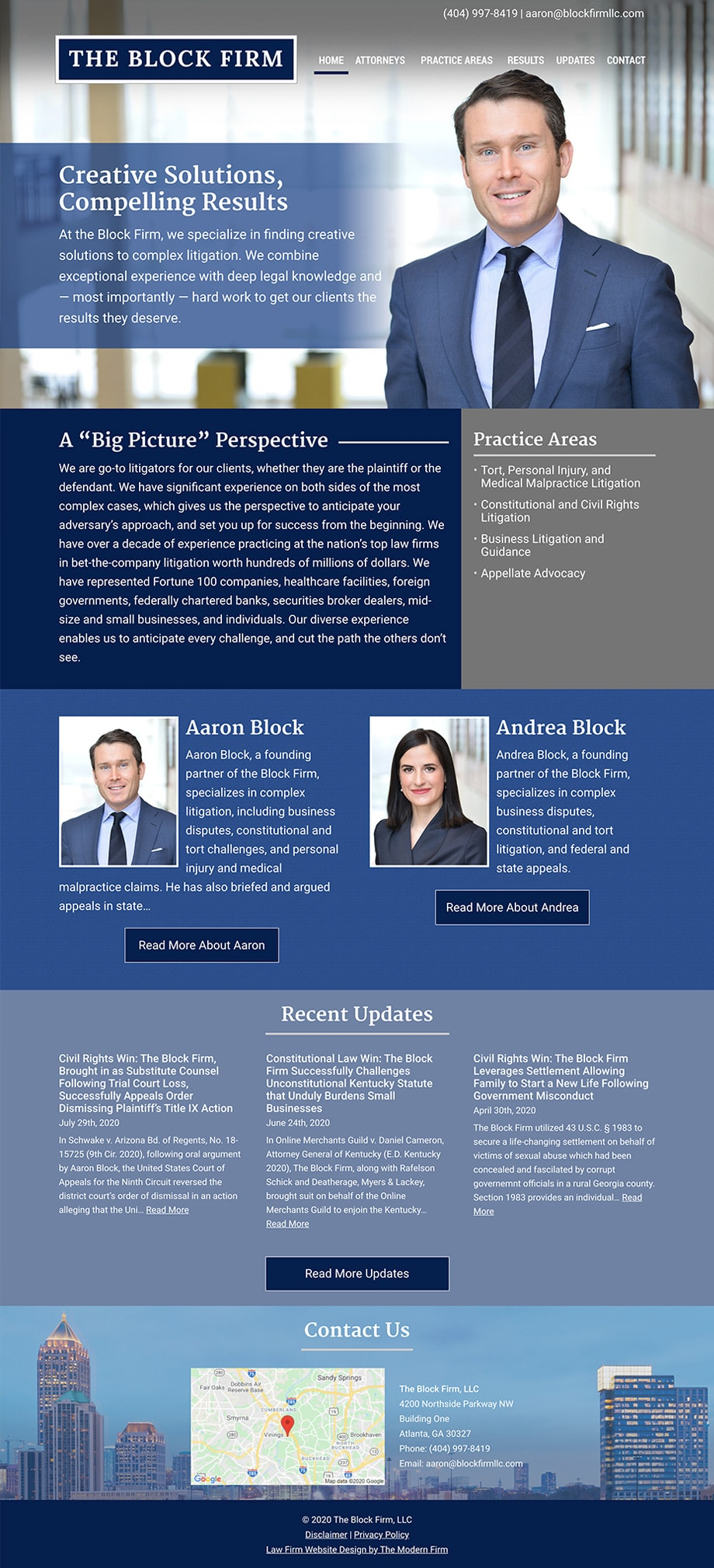 Law Firm Website Design for The Block Firm, LLC